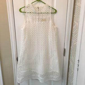 Maeve Snowscape Lace Swing Dress